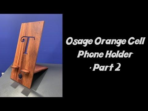 DIY Wooden Cell Phone Holder pt 2