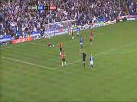 Tomasz Kuszczak! magnificent Save against Birmingham