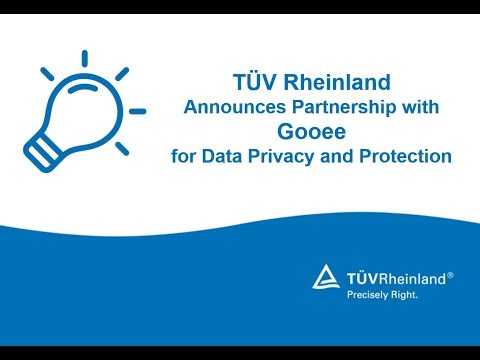 TÜV Rheinland Announces Partnership with Gooee for Data Privacy and Protection
