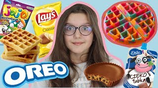 SZALONE GOFRY CHALLENGE! Making Waffles out of food!