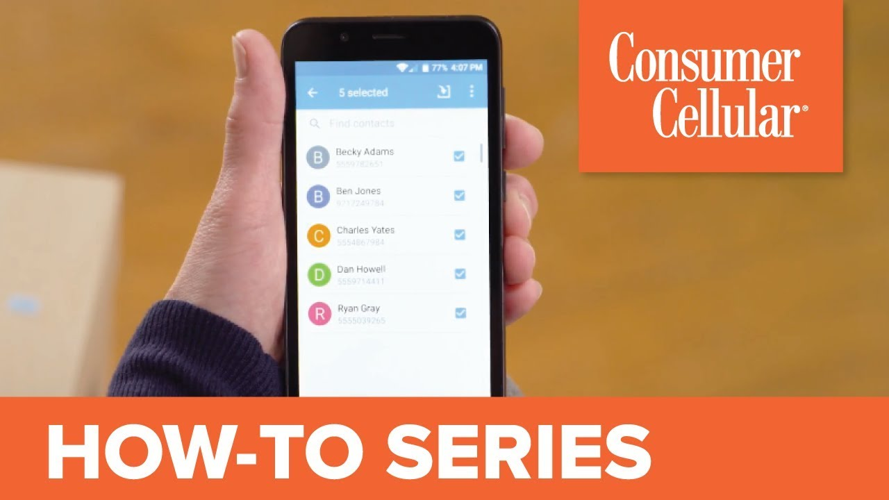 ZTE Avid 557: Transferring Contacts (7 of 8) | Consumer Cellular