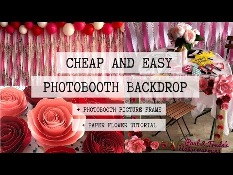 DIY PHOTOBOOTH BACKDROP | CHEAP AND EASY PARTY DECOR