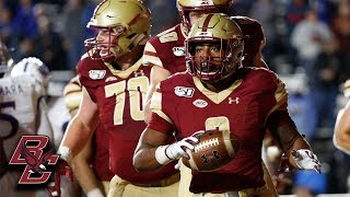 Boston College AJ Dillon Highlights vs. Kansas