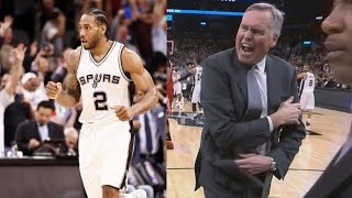 Kawhi Leonard Rejects James Harden in the Clutch! Rockets vs Spurs streaming