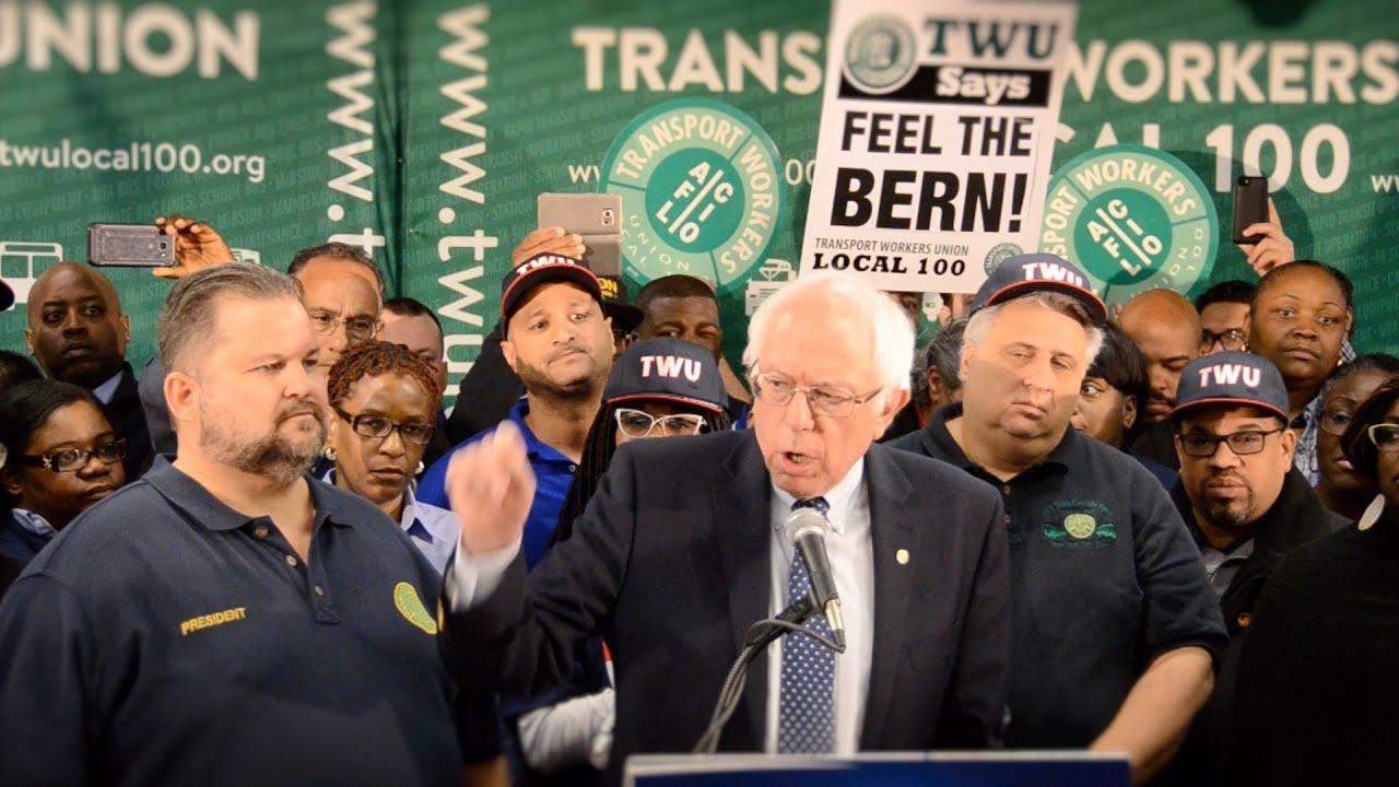 TWU Local 100 Endorses Bernie Sanders for President
