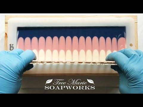 Cold Process Soap Making Stripe/Taiwan Swirl Cut 2 Ways (Technique Video #16)