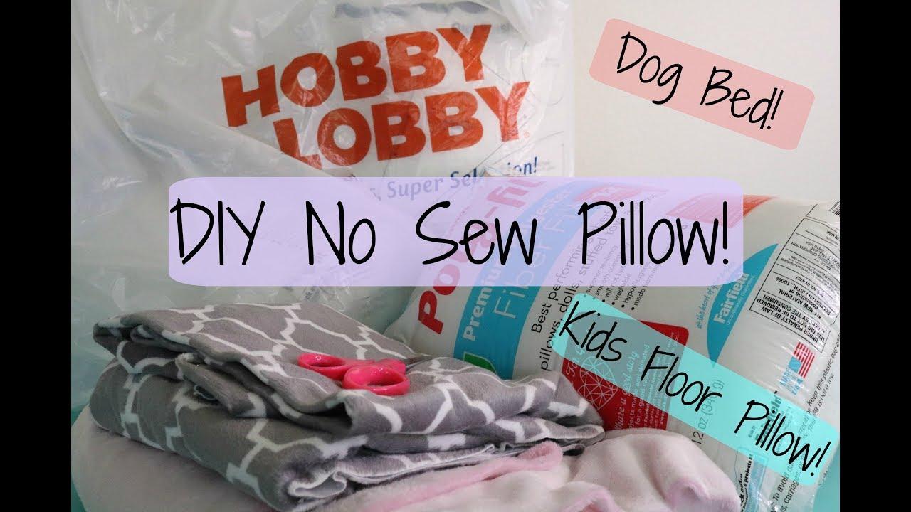 DIY no sew floor pillow - YouTube