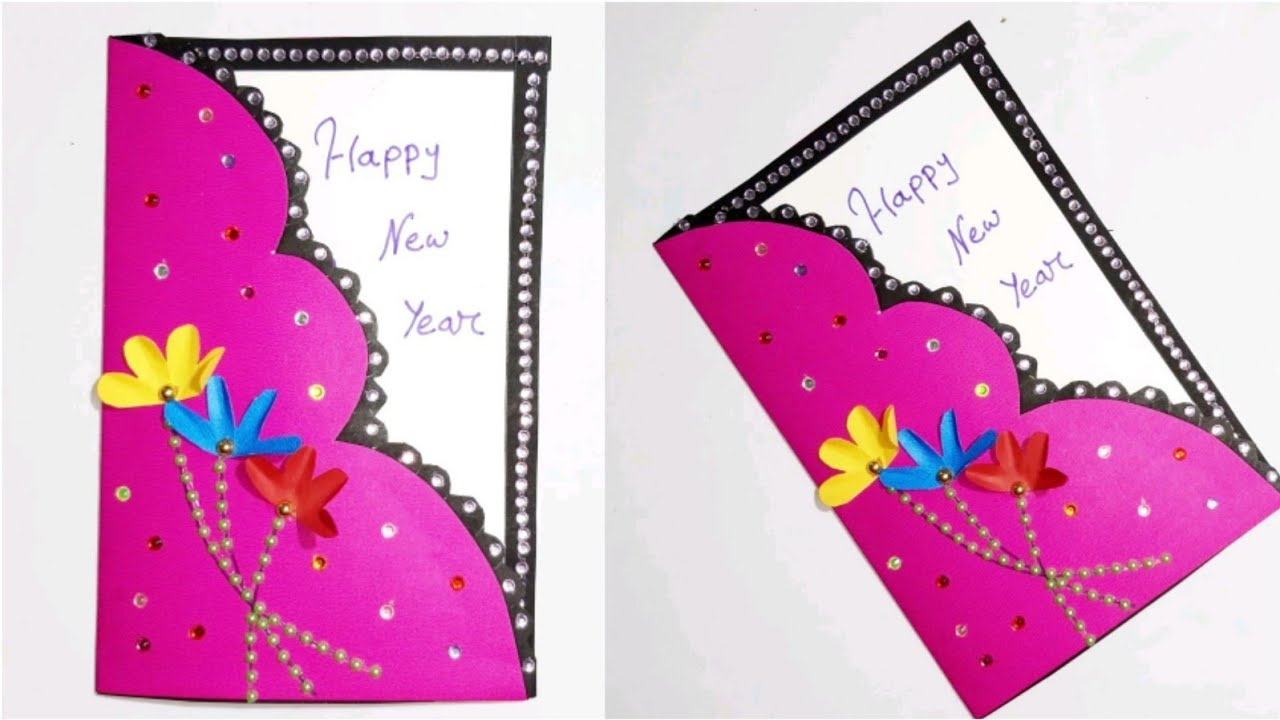 Beautiful Handmade Happy new year 2020 card making idea ...