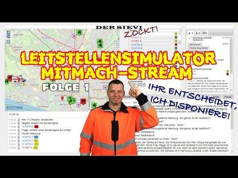 Leitstellensimulator Mitmach-Stream || Gemeinsames Abarbeiten von Notrufen || LstSim.de || #001