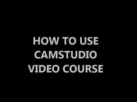 How To Use CamStudio Video Course