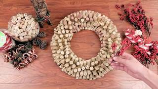 Winelover's Christmas Cork Wreath