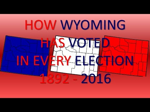 How Wyoming has voted in every Presidential Election