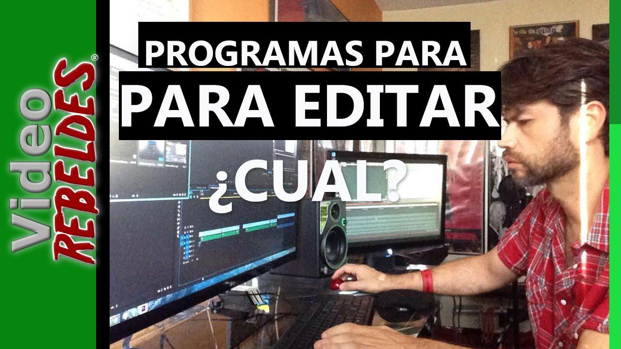 Que programa usar para editar video youtube for Programas para disenar