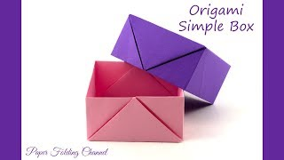 Origami Simple Box, proste pudełko.