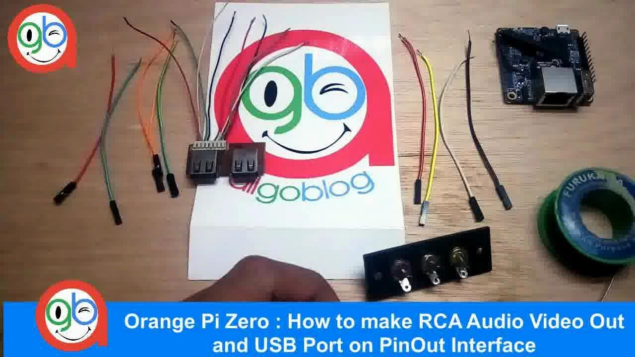 Orange Pi Zero How To Make Rca Audio Video Out And Usb Port On Connector Wiring Pinout Interface Youtube