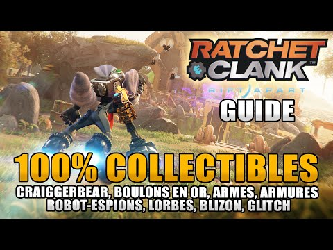 Download RATCHET & CLANK RIFT APART : 100% COLLECTIBLES : (Ours, Boulons, Armures, Robot-espion, Lorbes ...)