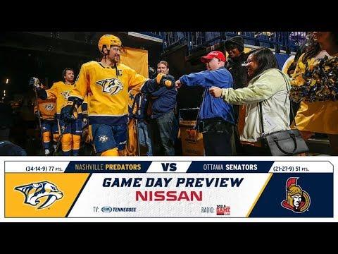 NHL 18 PS4. REGULAR SEASON 2017-2018: Ottawa SENATORS VS Nashville PREDATORS. 02.19.2018. (NBCSN) !