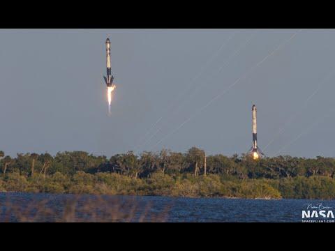 СУПЕР ПОСАДКА СТУПЕНЕЙ Falcon Heavy - SUPER LANDING STEPS Falcon Heavy - Mission SpaceX Arabsat-6A!