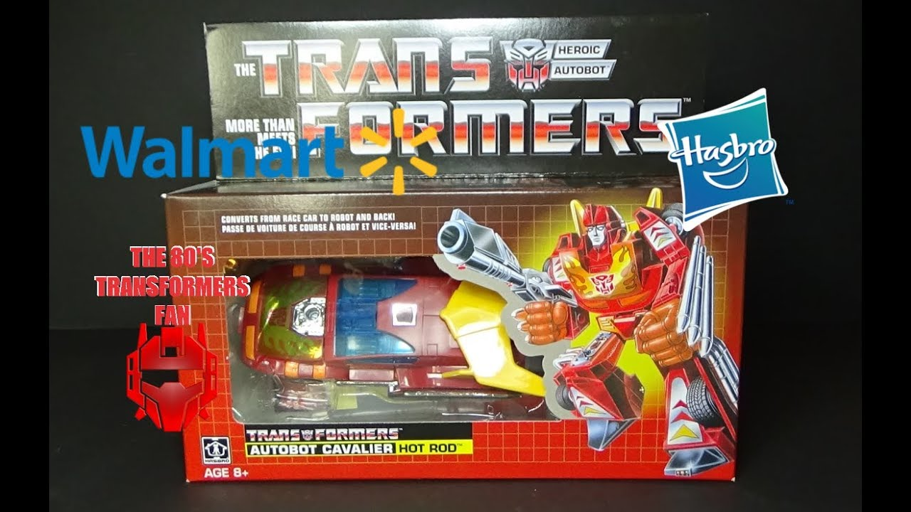 New in Box Hasbro Transformers G1 Vintage Réédition Hot Rod 2018 Walmart Exclusive
