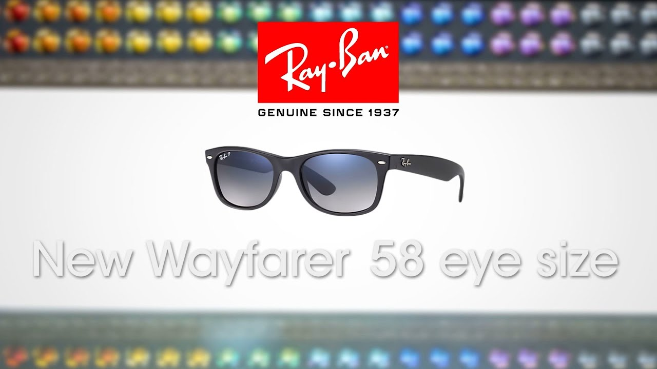 d46e2f9fbac ... sunglasses 4d85b 8d0db  switzerland biggest ray ban new wayfarer the 58  eye size sportrx youtube 011ff f7b29