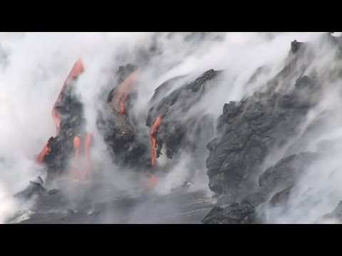 Hawaii Volcanoes National Park Lava (Aug. 16, 2016)