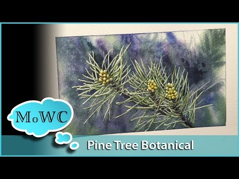 Pine Branch Botanical. First Signs of Spring Watercolor Journaling
