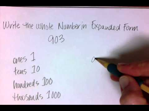 expanded form 742  Math 17 - Writing a Number in Expanded Form