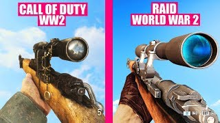 Call of Duty WW2 Gun Sounds vs RAID World War II