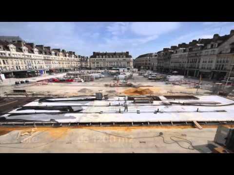 [TIMELAPSE] La nouvelle place Jeanne Hachette à Beauvais