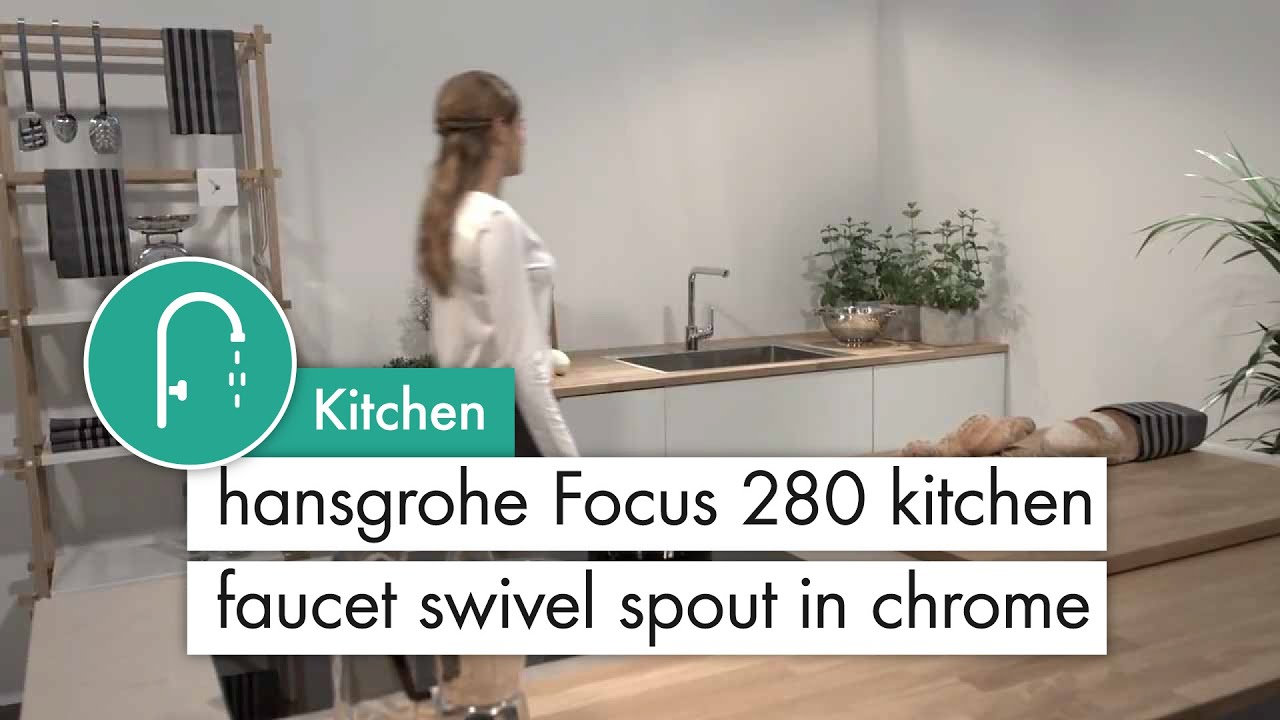Moderne hansgrohe Focus 280 kitchen mixer swivel spout - YouTube JW-76
