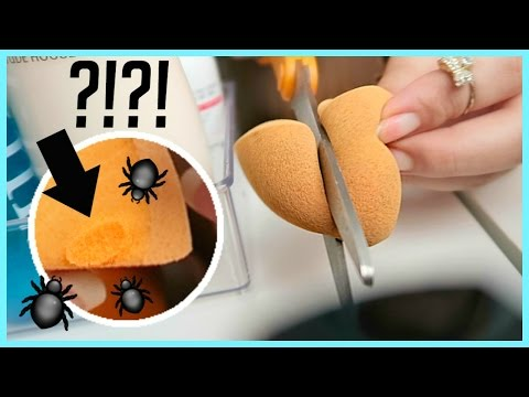 CUTTING Into My BEAUTY BLENDER!