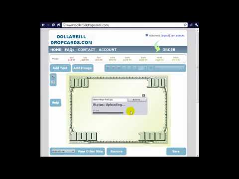 Realistic Dropcard - Dollar Bill Drop Cards - Dollar Business Cards