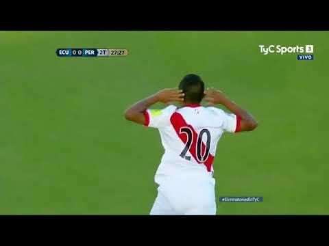 Ecuador 1-2 Peru Eliminatorias Rusia 2018 - Tyc sports