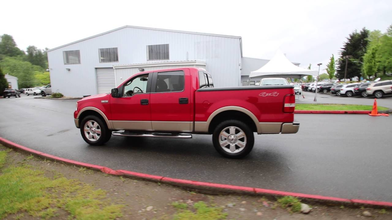 2007 ford f 150 lariat bright red clearcoat 7kc42543. Black Bedroom Furniture Sets. Home Design Ideas