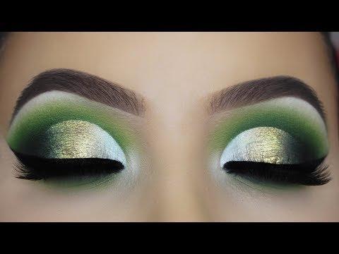 Glamorous Green Cut Crease Tutorial thumbnail