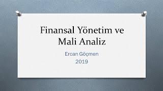 Finansal Yönetim ve Mali Analiz- 8