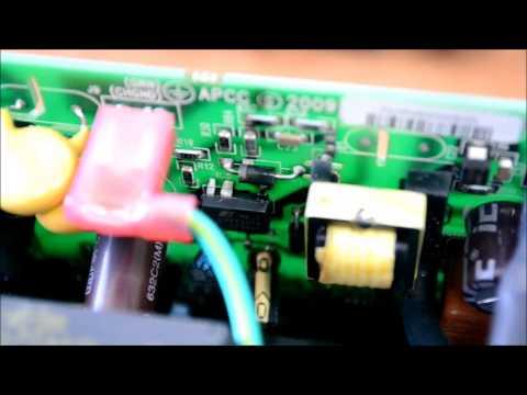 APC 700 Back-UPS ES ремонт после самостоятельной замены АКБ