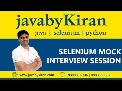Selenium Mock Interview S ession -By Kiran Sir-Java By Kiran,Pune