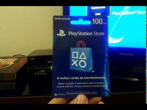 Como colocar creditos no PlayStation Store - Código com 12 Números