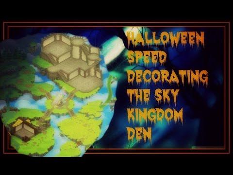 Animal Jam: Halloween Decorating The Sky Kingdom Den! 2015