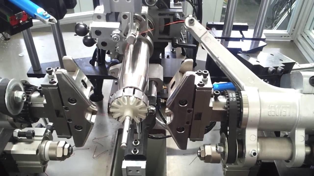 rotor winding machine armature winding machine youtube
