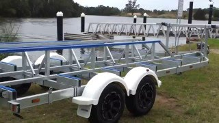 Ausmarine CAT7M15T Catamaran boat trailer