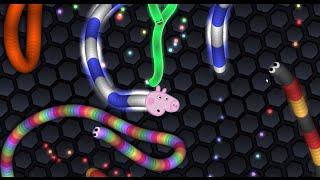 George Pig joga Slither.io - jogo da cobrinha - EP01