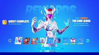 How To COMPLETE AĻL THE CUBE QUEEN CHALLENGES in Fortnite! (Secret Skin Quests)