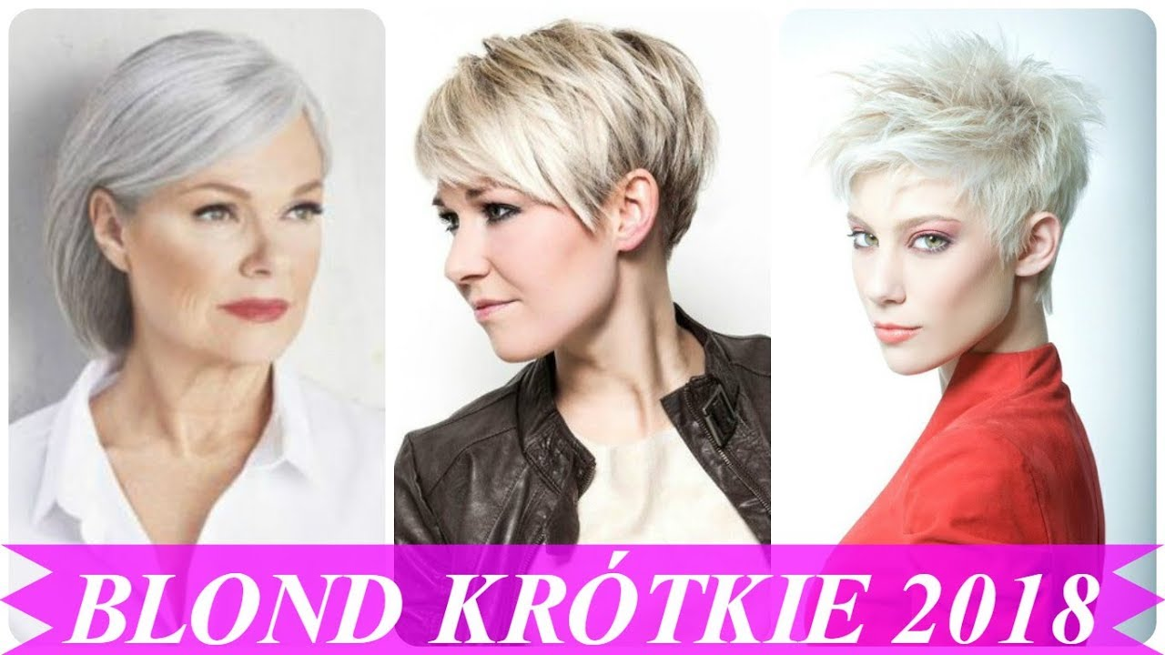 Top 15 Krótkie Blond Włosy Fryzury 2018 Youtube