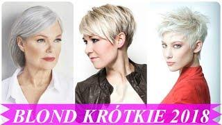 TOP 15 Krótkie blond włosy fryzury 2018