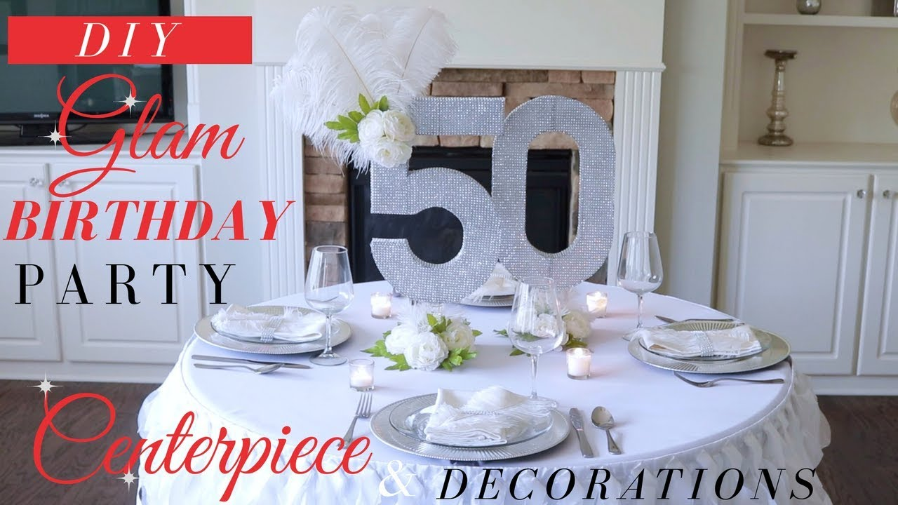 Diy Bling Centerpiece Ideas Glam Birthday Party