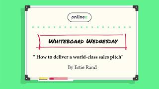 How to deliver a world-class sales pitch