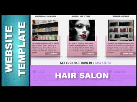Website Design Templates: Hair Salon