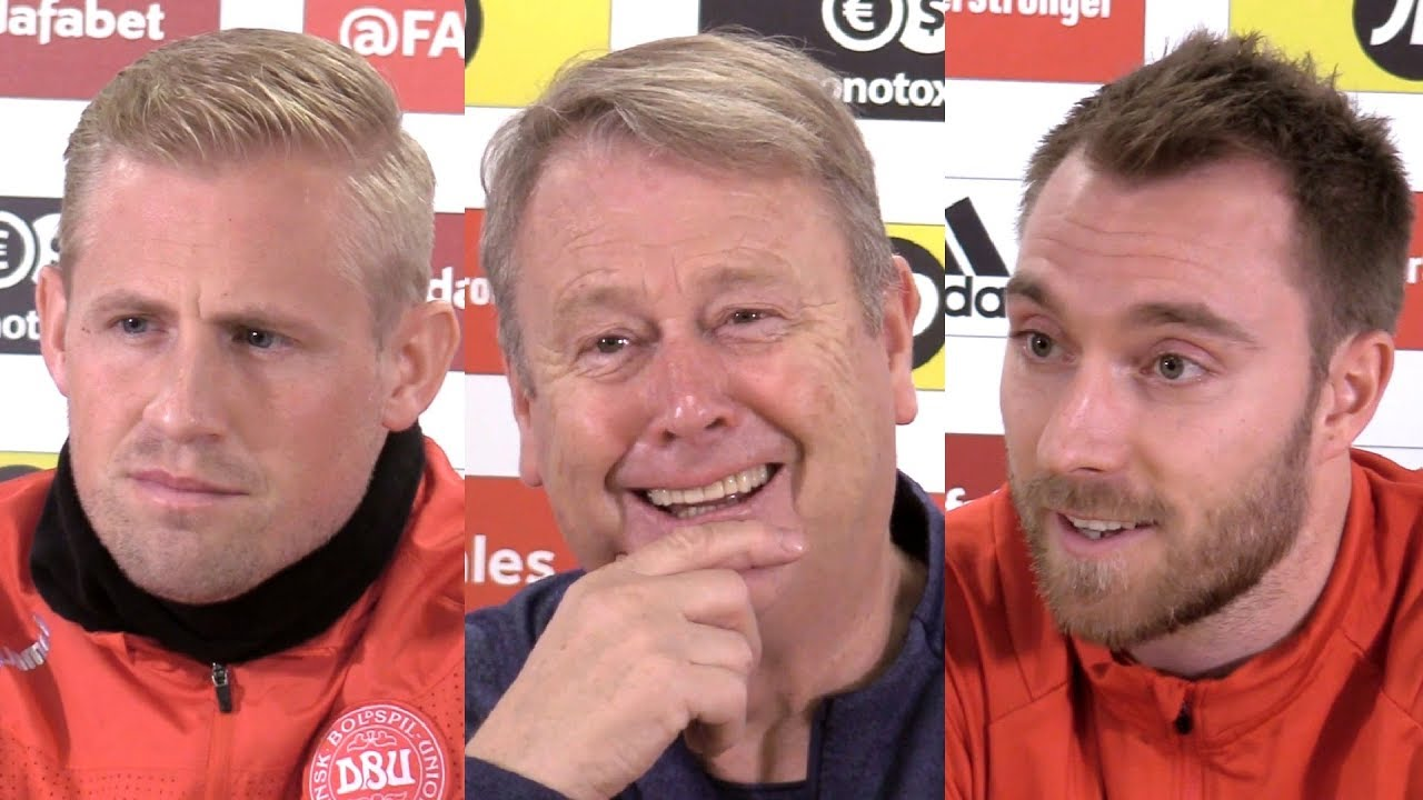Wales v Denmark - Age Hareide, Kasper Schmeichel & Christian Eriksen Pre-Match Press Conference